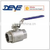 Stainless Steel Ball Valve with Two Piece Body NPT or SP ENDS 1000WOG 2000WOG