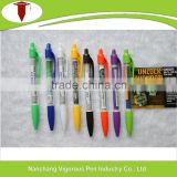Plastic Promotional Retractable Banner Pens with Pull Out Paper