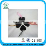 [factory direct] 10x10cm Natural Edge Heart Shape Set Of 4 Slate Hanging Craft Item DP1010HD2A3
