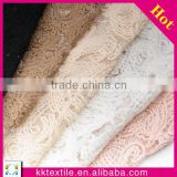 Hottest 2014 wool sequin polyester fabric#7464 mesh beaded lace fabric for dress