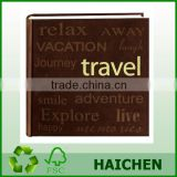 """Travel"" Text Design Sewn PU Cover Photo"