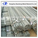 Alibaba corrugated reinforcing steel bar deformed steel rebar from Hangzhou manufactory,iron rods for construction/concrete