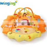 Large animal shaped plush play mat with side baby foam play mat