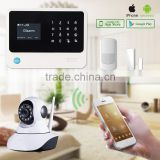 lcd screen panel wireless wifi gsm alarm system with CE FCC certifications multi-language hottest 2016