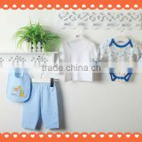 5 pcs baby clothes set mesh bag