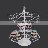 YG1139 2 layer wrought iron cupcake stand, color powder coated cupcake racks for wedding