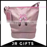 Superior quality Pink Polyester ballet shoe bag