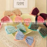 Lovely Girls Barrette New Korean High Quality Plaid Flower Bowknot Hair Clip Boutique Hair Bows Hairpins Women Hair Accessories