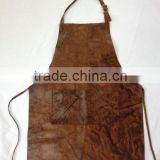 high quality and vintage cattlehide leather apron, waxed canvas and cattlehide leather apron manufacture
