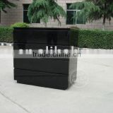 High Gloss Nightstand and Chest Bedroom Storage Sets