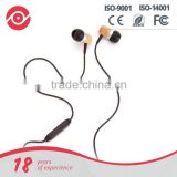 Yes hope precise bass hands-free earbud wooden stereo headphone headsets earphone