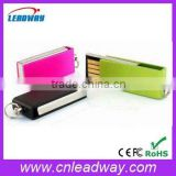 slim metal usb multiple color stylish pen drive memory stick for promotional gift
