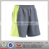 Yellow Gray Color Combinations Elastic Band Men Running Shorts