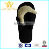 high quality coral fleece girls high heel flip slippers