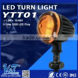 Y&T YTT01 led motorcycle tag light will 12volt led light work on 6 volt system, motorcycle led turn light