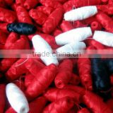 "FACTORY 100% Cotton Cocoon Bobbin Thread for Schiffli Machine ""NO SHRINKAGE"" Multihead Embroidery schiffli bobbin thread"