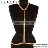 Sex Elegant Gold Body Chain Piece Belly Jewelry Harness Necklace Shoulder Chain