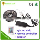 Alibaba China 5M SMD RGB 5050 Waterproof Strip light 300 LED + 44 Key IR Remote + 12V 5A power adaptor