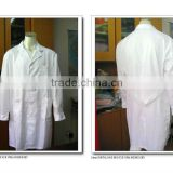 good cutting white cotton working cloth workwear lab coat in hospital uniform