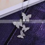 Women fine jewelry Butterfly chains CZ Necklace