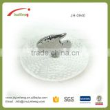 Garden decor glazed silver fish decorative ceramic grape plate for jewelry