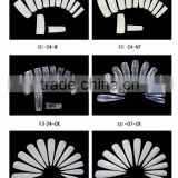 Long false nail natural /transparent /white artificial nail for Salon DIY use