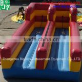 2016 new design hot game 2 lanes bungee run inflatable game for sale