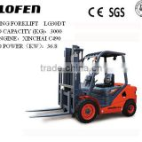 3.0ton manual forklift manual pallet stacker with CE/ISO/SGS