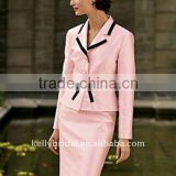 WoW!pink with black dotted mother of the bride dress style
