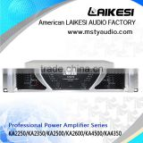 KA2250 2 channel 8ohm 500W audio line amplifier/professional concert sound system power amplifier
