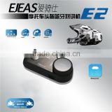 EJEAS E2 Wireless Hands free Walkie Talkie Bluetooth Motorcycle Helmets for 4 person use 1200m talking distance