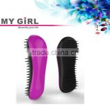 2016 My girl private label hair extension competitive price carbon plastic hair combs wholesale, Tangle Detangling Brush