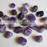 AMETHYST AGATE HIGH GRADED TUMBLED PEBBLES STONE