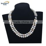 8-9mm off round mixed colour jewelry hot sale freshwater fashion pearl necklace
