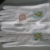 Freemasons White Cotton Gloves Masonic Gloves