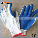BSSAFETY factory price 2016 wholesale cotton knitted exfoliating keeper hand gloves making machine