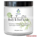 organic foot and body scrub for anti-viral