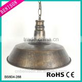 High quality industrial copper dome lamp shade in antique copper colour for kitchen lighting
