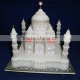White Marble Taj Mahal Showpiece Replica