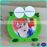 customized wholesale art cute frog acrylic animal shape photo frame