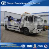 top quality 6 wheel right hand drive dongfeng heavy wrecker truck for sale