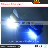 Super Bright 3 Led White Blue Lights Front Rear Silicone Bike Light Bicycle Tail Light