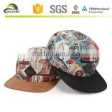 5 Panel Hat Cap Fresh Floral Flower Biker Cycle Hat Adjustable Leather Strap NEW