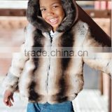 Kids Wear 2014 Coat Jackets For Children Clothing Factory Children's Chinchilla Faux Fur Hooded Parka