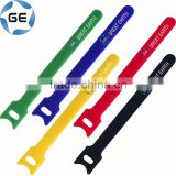 Adjustable Hook and Loop Strap Colorful Back to Back Customizable Self-gripping Hook and Loop Self Lock Cable Tie Fastener