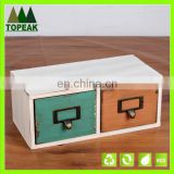 Zakka style storage box with drawer custom logo printing wooden box Packaging Box WD-109