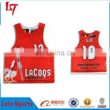 Cheap custom sublimation reversible lacrosse mesh pinnies / high quality comfortable breathable sport lacrosse jersey
