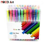 Customized Wholesale High Quality Stationery Gel Pen Pack Set 12 24 30 48 Gel Ink Pen Pack