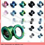 Titanium anodized tunnel with threaded back, 14gauge ,ear plug ,body piercing jewelry ring