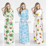 Winter Christmas Women Long Dresses One Piece for Fat Girls Pajamas Outfit
